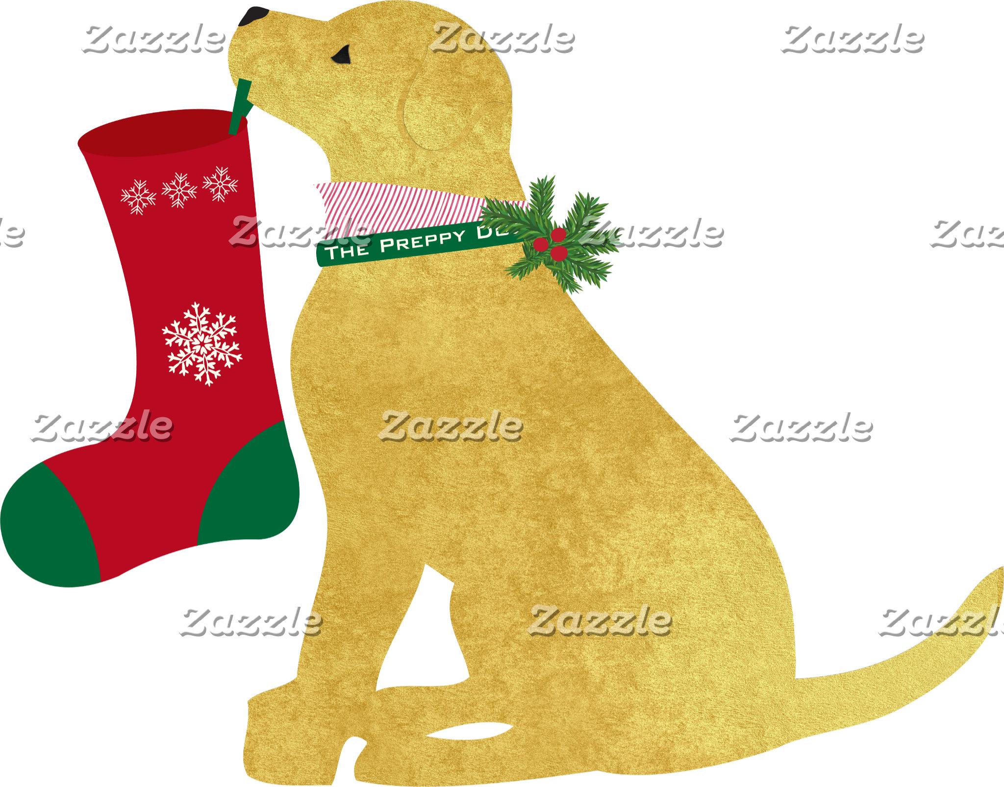 Christmas Retriever Preppy Dog
