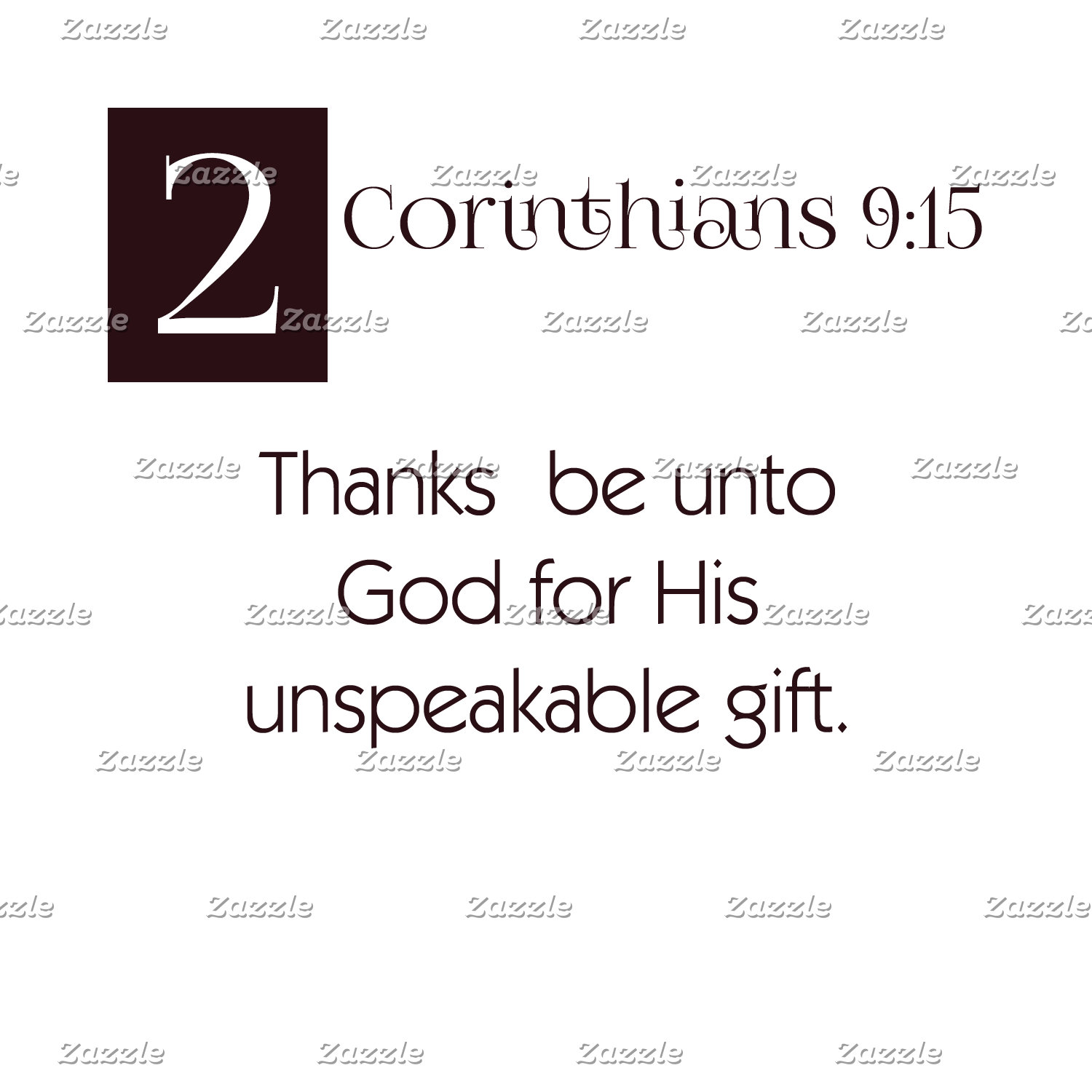 2 Cor 9:15 - Thanks to God