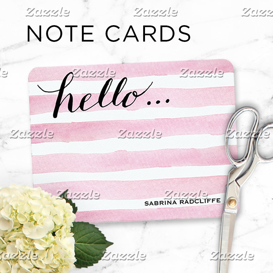 Flat Personalized Note Cards