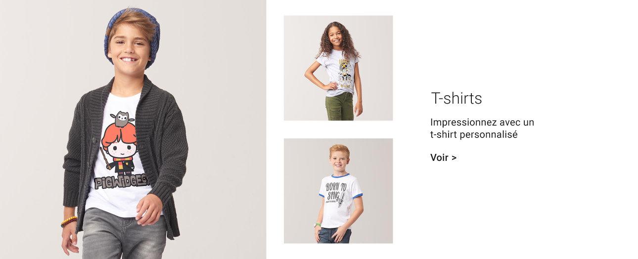 T-shirts personnalisés pour enfants