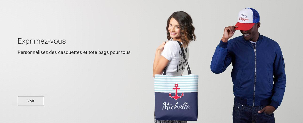 Casquettes & Totes bags personnalisés