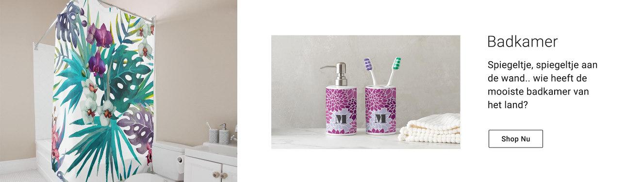Gepersonaliseerde badkamer accessoires