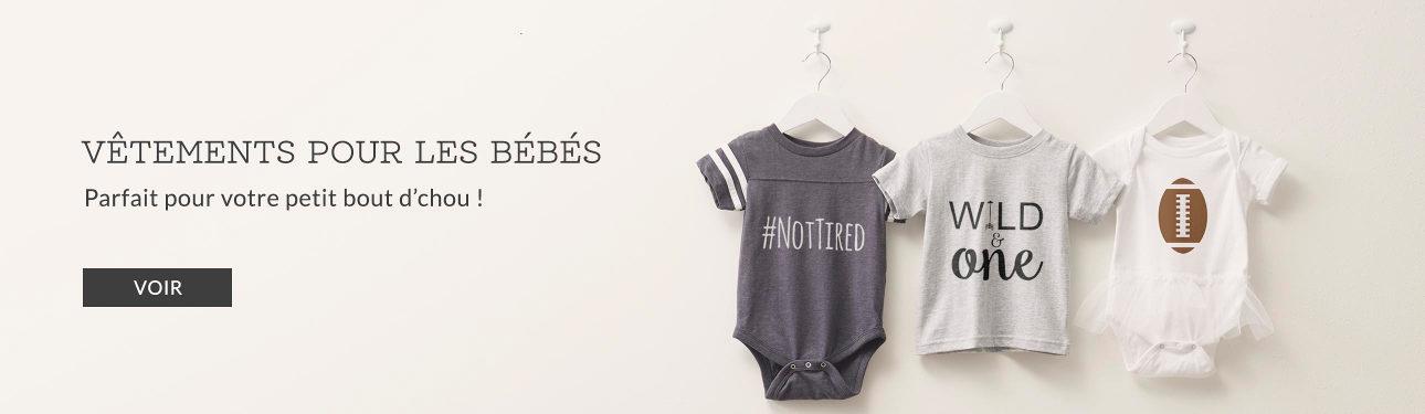 Vêtements personnalisables pour bébés