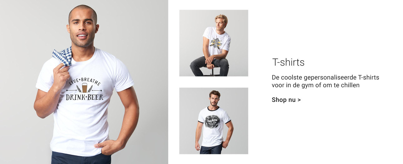 Gepersonaliseerde heren T-shirts