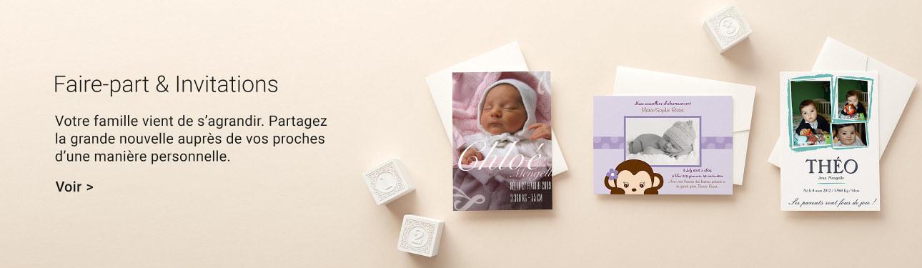 Faire-part et invitations pour naissances et baby shower