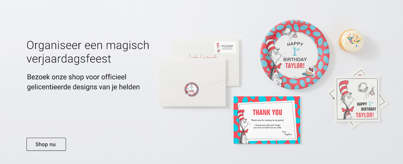 Geef een magisch verjaardagsfeestje - Bezoek onze site voor officieel gelicentieerde designs!