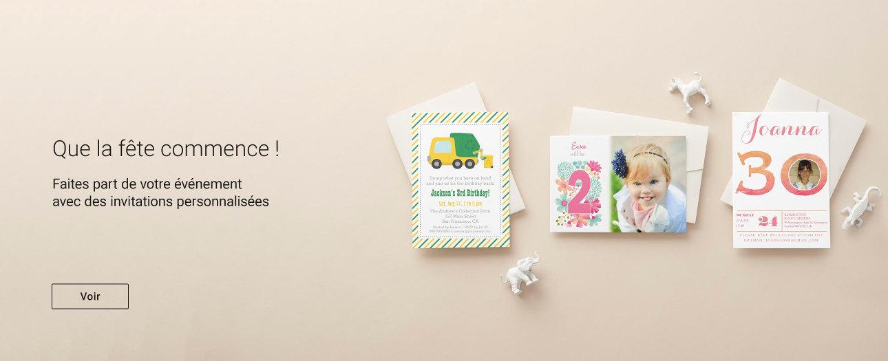 Invitations & Cartes personnalisées sur Zazzle.fr