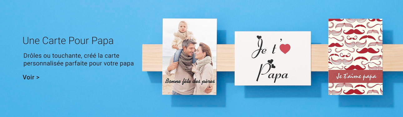 Sélection de cartes personnalisées pour la fête des pères