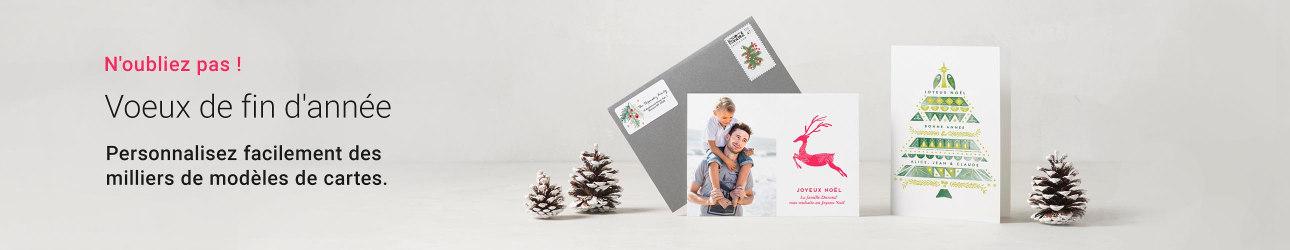 Cartes de vœux personnalisées
