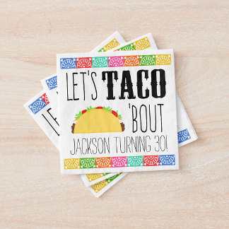 Papieren servetten - Taco 'Bout Birthday Party Paper Napkin