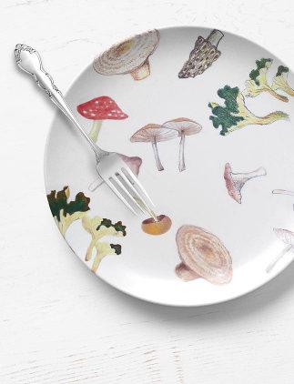 Assiettes en porcelaine