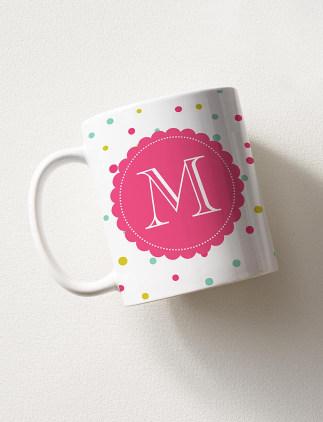 Mugs personnalisé avec des initiales sur Zazzle