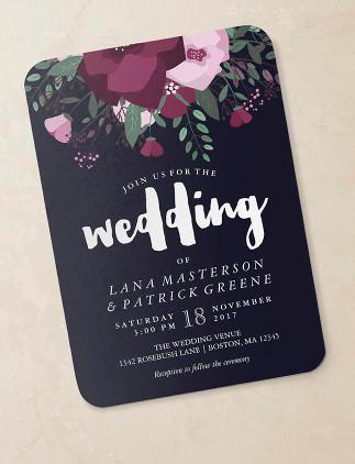 Invitations florales pour mariages