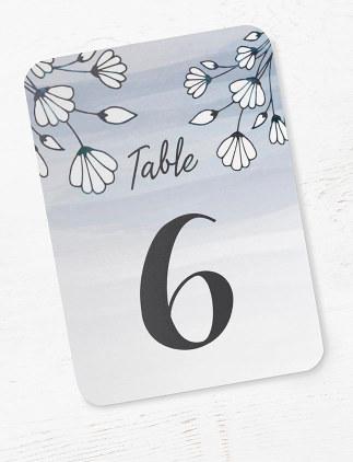 Numéros de table pour mariages