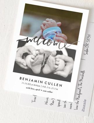 carte postale de naissance