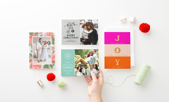 Cartes de vœux de fin d'année personnalisées