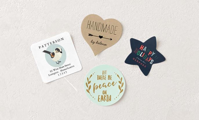 Kerstmis stickers - gepersonaliseerde stickers in vele vormen en maten
