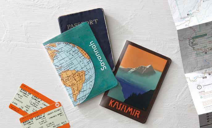 Protège passeports personnalisés