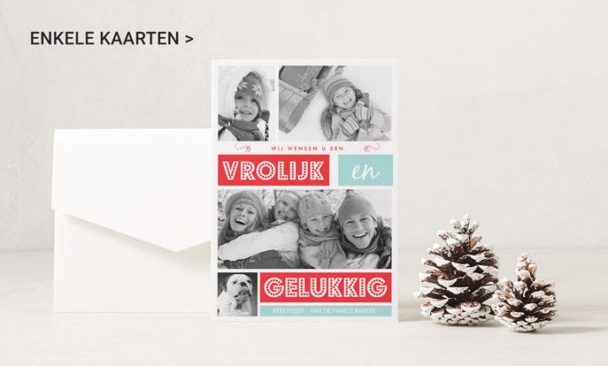 Kerstkaarten met eigen tekst en foto