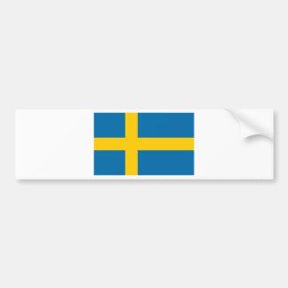 Sveriges Flagga - Vlag van Zweden - Zweedse Vlag Bumpersticker