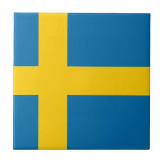 Sveriges Flagga - Vlag van Zweden - Zweedse Vlag Tegeltje