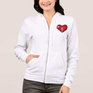 Sweat - shirt à capuche avec votre coeur