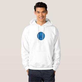 Sweat - shirt à capuche bleu de coup de bouton