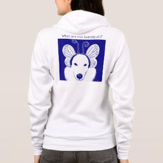 Sweat - shirt à capuche bleu de Roo