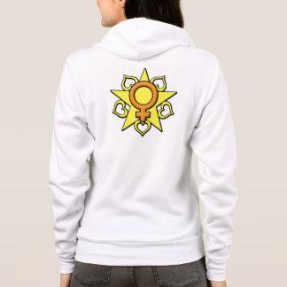 Sweat - shirt à capuche brillant de coeur