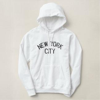 Sweat - shirt à capuche brodé de dames de NEW YORK