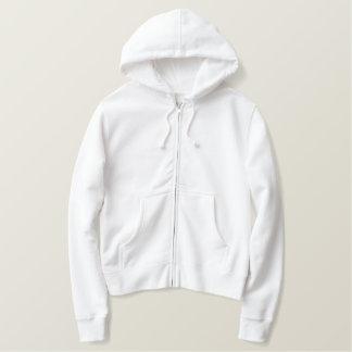 Sweat - shirt à capuche brodé de la fermeture sweatshirt à capuche