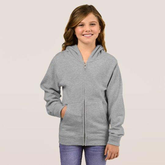 Veste à capuche basique avec zip, Gris bruyère