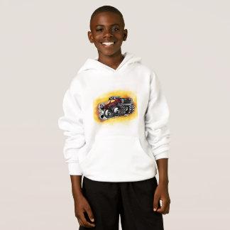 Sweat - shirt à capuche de camion de monstre pour