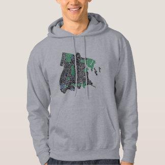 Sweat - shirt à capuche de carte de typographie de