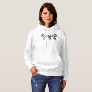Sweat - shirt à capuche de chats de Noël !