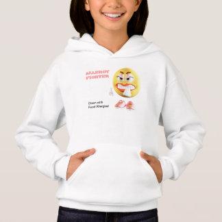 Sweat - shirt à capuche de combattant d'allergie