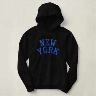Sweat - shirt à capuche de dames de NEW YORK (noir
