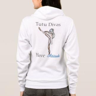 Sweat - shirt à capuche de divas de tutu