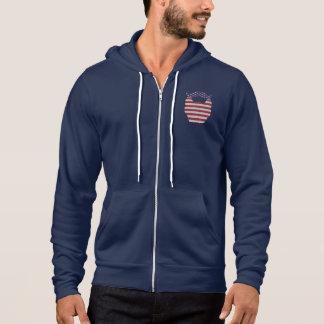 Sweat - shirt à capuche de drapeau des Etats-Unis