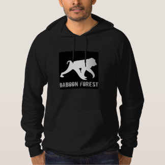 Sweat - shirt à capuche de forêt de babouin avec