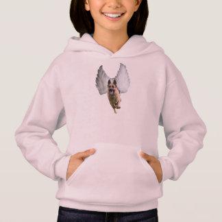 Sweat - shirt à capuche de Hanes des filles d'ange
