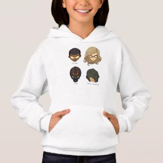 Sweat - shirt à capuche de héros de Chibi (blanc)