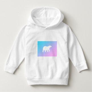 Sweat - shirt à capuche d'ours blanc