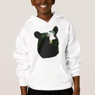 Sweat - shirt à capuche d'ours noir