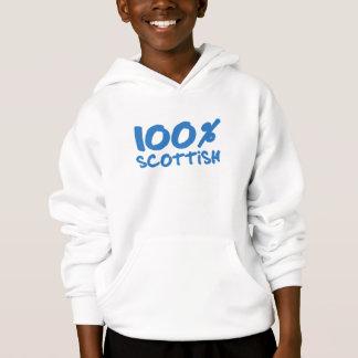 Sweat - shirt à capuche écossais d'enfants de 100%