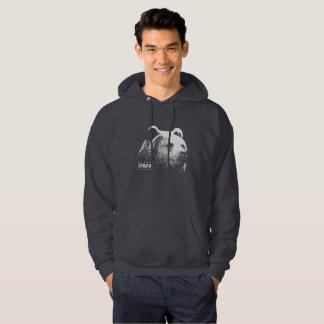 Sweat - shirt à capuche foncé grisâtre d'ours de