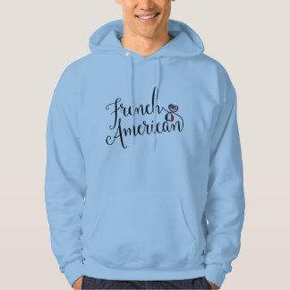 Sweat - shirt à capuche français de coeurs