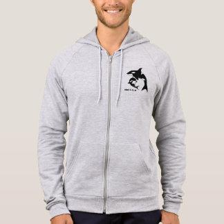 Sweat - shirt à capuche gris unisexe d'orque
