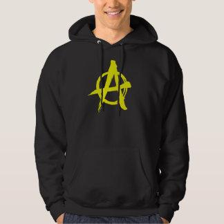 Sweat - shirt à capuche jaune balayé d'anarchie