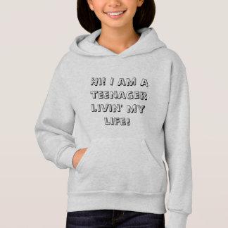 Sweat - shirt à capuche mignon et simple